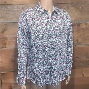 Ted Baker Mens Floral Print Dress Shirt SZ.6